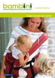 Tragen im Tuch oder Carrier - bambini