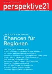 Chancen für Regionen - Perspektive 21