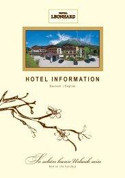 Hotelinfos von A bis Z - Hotel Leonhard