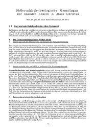 3. Gott und sein Heilshandeln im AT (pdf - Theologie-Skripten