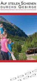 auf steilen schienen durchs gebirge - Schwarzwaldbahn Erlebnispfad
