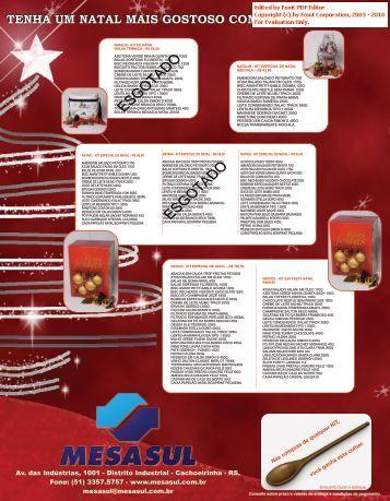 Visualizar lista de Natal - Mesasul