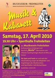 Programm Musik mit Witz und Humor.pdf - Musikverein Frohnleiten