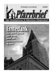 Pfarrbrief 2005 - 03 Erntedank - Pfarre Oberndorf an der Salzach