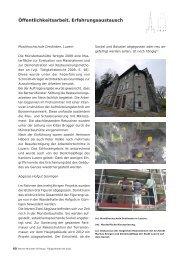 Öffentlichkeitsarbeit, Erfahrungsaustausch - Berner Münster-Stiftung