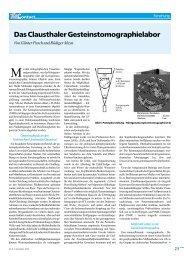 Das Clausthaler Gesteinstomographielabor - TU Clausthal