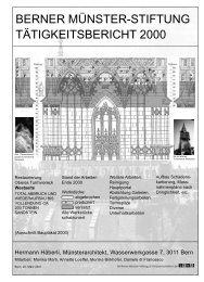 Ganzer Tätigkeitsbericht - Berner Münster-Stiftung