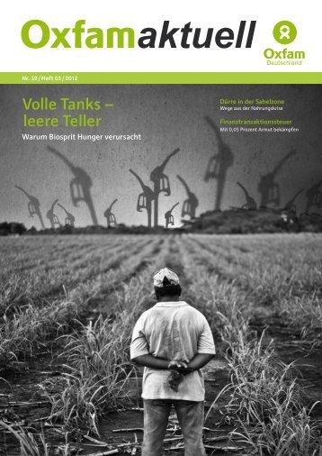 Herbst 2012. Oxfam aktuell Nr. 59