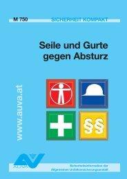 Merkblatt - Seile und Gurte gegen Absturz M 750 - M+T ...