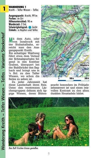 W anderung Kreith – Telfer Wiesen – Telfes · V ariante Stockerhof