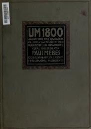 Um 1800; Architektur und Handwerk im Letzten Jahrhundert ihrer ...