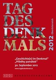 Programmbroschüre Oberösterreich - Tag des Denkmals