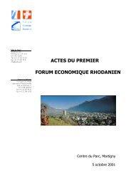 Actes du 1er Forum - CCF SA