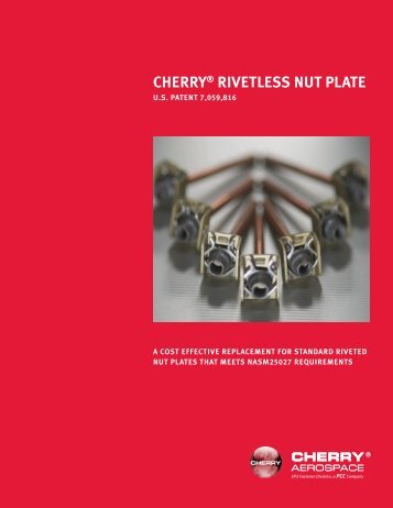 CHERRY® RIVETLESS NUT PLATE - Cherry Aerospace