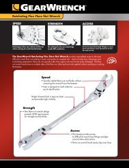 Ratcheting Flex Flare Nut Wrench ACCESS Access ... - GearWrench