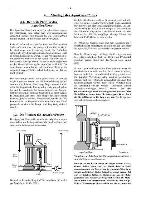4. Montage des AquaCareFlotors