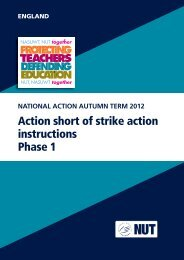 Action short of strike action instructions Phase 1 - National Union of ...
