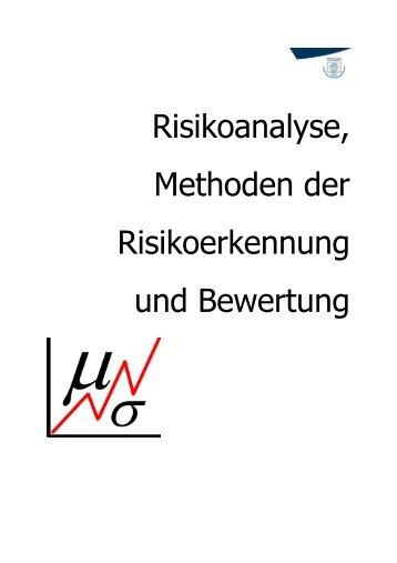 Risikoanalyse, Methoden der Risikoerkennung und Bewertung