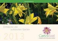 Garten-Lust Folder 2013 Teil 1 - Gartenlust Oststeiermark