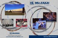 View our Shape Brochure - 1.3 Mb - Nu-Tech Precision Metals
