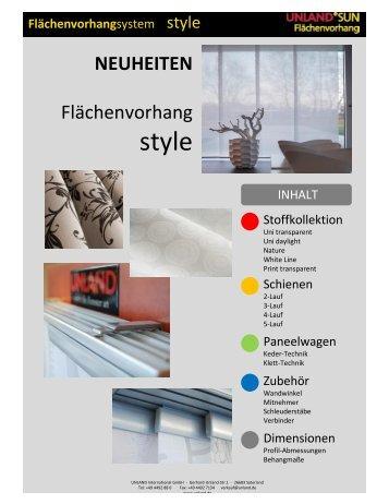 Flächenvorhangsystem - Unland GmbH