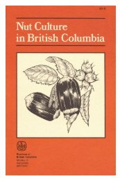 Nut culture in British Columbia - Ministry of Agriculture and Lands