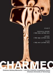 stage 6 triennial report 1 July 2009–30 June 2012 ... - CHARMEC