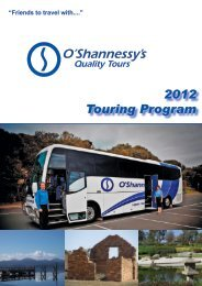Download the 2012 Touring Program. - O'Shannessy's Website