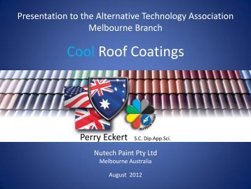 Cool Roof Coatings - Alternative Technology Association