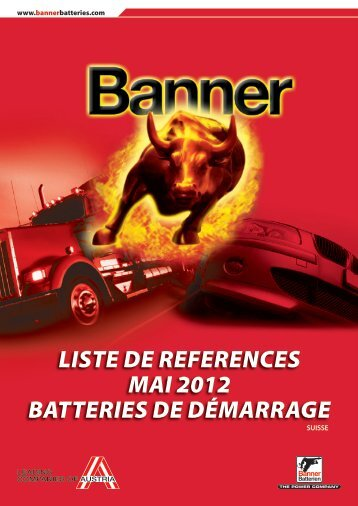 LISTE DE REFERENCES MAI 2012 BATTERIES DE D