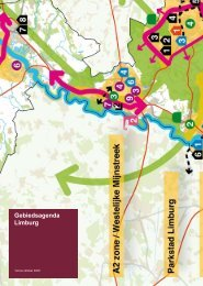 Gebiedsagenda Limburg versie oktober 2009 ... - Provincie Limburg