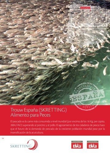 Trouw España (SKRETTING) Alimento para Peces - Nutreco España