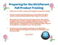 Fall Product Girl and Parent Training - Girl Scouts of Central Illinois