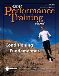 NSCA's Performance Training Journal V. 5.2