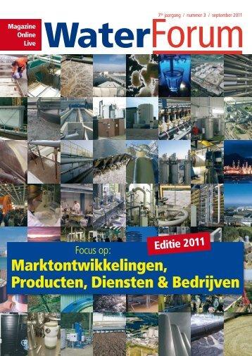 Marktontwikkelingen, Producten, Diensten & Bedrijven - Waterforum