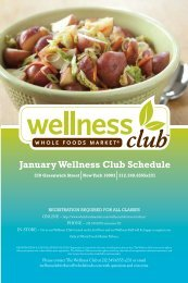 January Wellness Club Schedule - Whole Foods Market Wellness ...