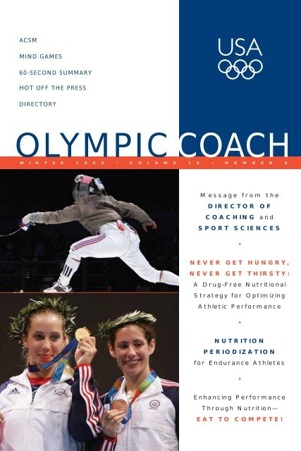 OLYMPIC COACH - United States Olympic Committee