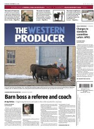 Barn boss a referee and coach - The Western Producer