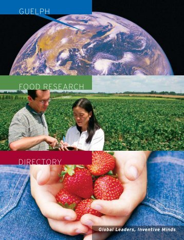 Guelph Food Research Directory - LINDdesign