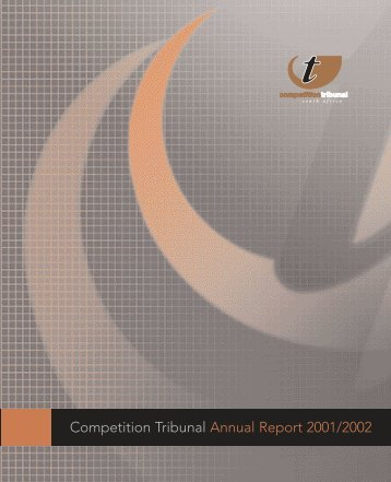 Competition Tribunal's 3rd annual report