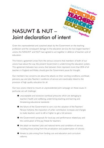 Informal Consultation on a Joint Declaration of Intent to Advance ...