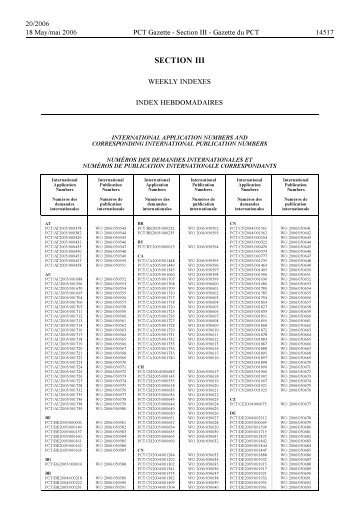 section 3 - World Intellectual Property Organization
