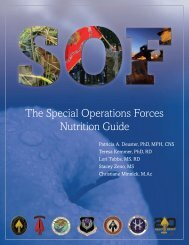 The Special Operations Forces Nutrition Guide - SEALSWCC.COM