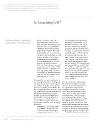Is Coaching OD? - Bev Scott Consulting