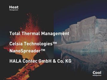 Celsia NanoSpreader TM Technologie, Presentation & more ...