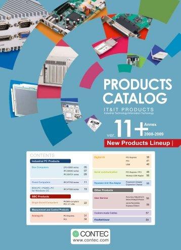CONTEC PRODUCTS CATALOG Ver.11 Annex 2008-2009 - ADM 21