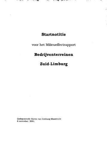 Bedrijventerreinen Zuid-Limburg - Commissie voor de ...
