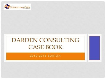 Darden Case Book - Darden School of Business