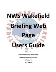 Briefing Web Page Users Guide - National Weather Service Eastern ...