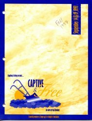 Captive & Free – Fall 1997 - Augsburg College